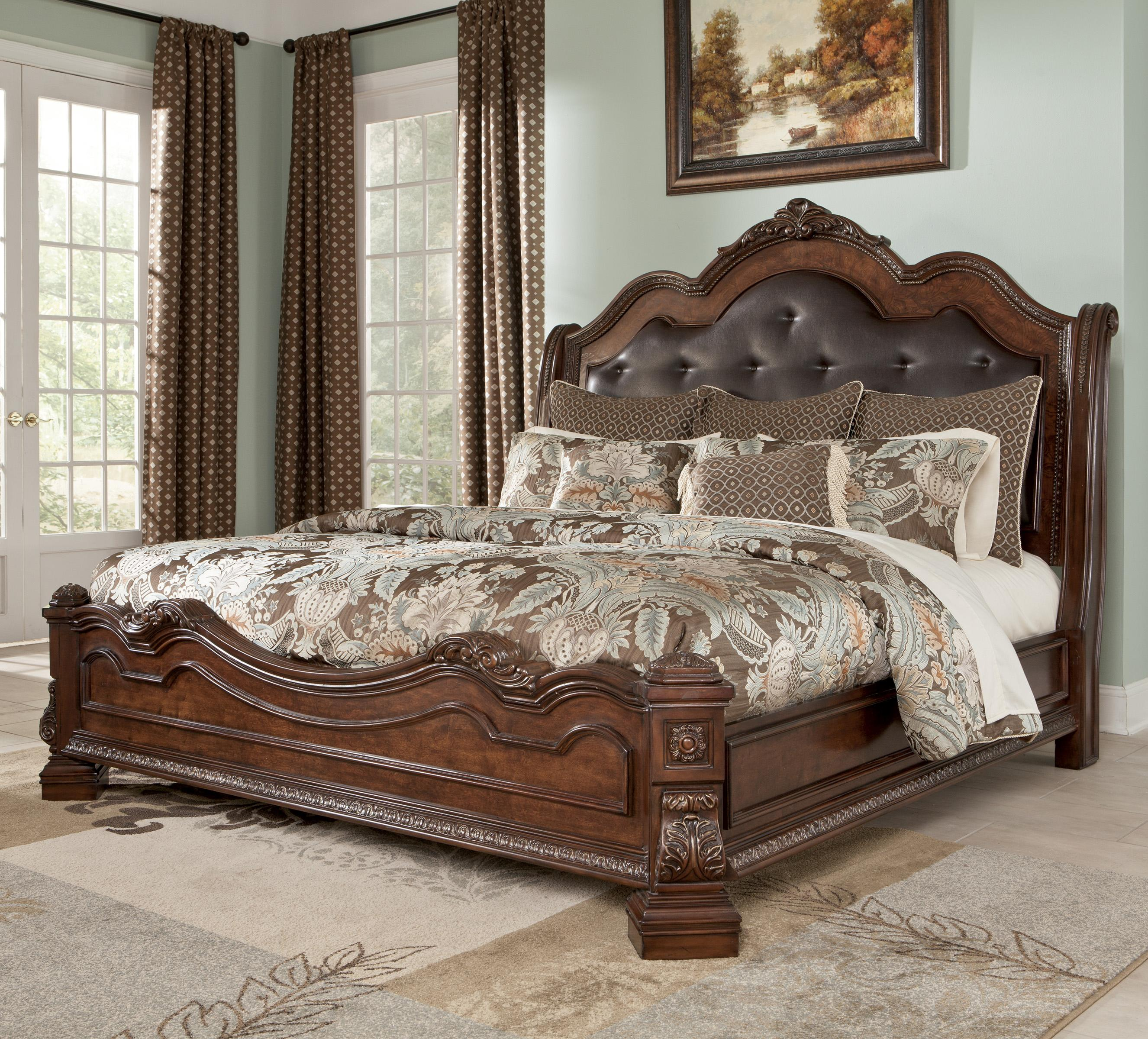 Millennium Ledelle Traditional Queen Bed with Sleigh Headboard
