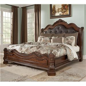 Millennium Ledelle Traditional Cal King Bed w/ Sleigh Headboard