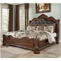 Millennium Ledelle Traditional Cal King Bed w/ Sleigh Headboard - Item Number: B705-58+56+94