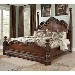Millennium Ledelle Traditional Queen Poster Bed