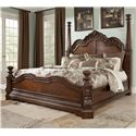 Millennium Ledelle Traditional Queen Poster Bed - Item Number: B705-71+51+98