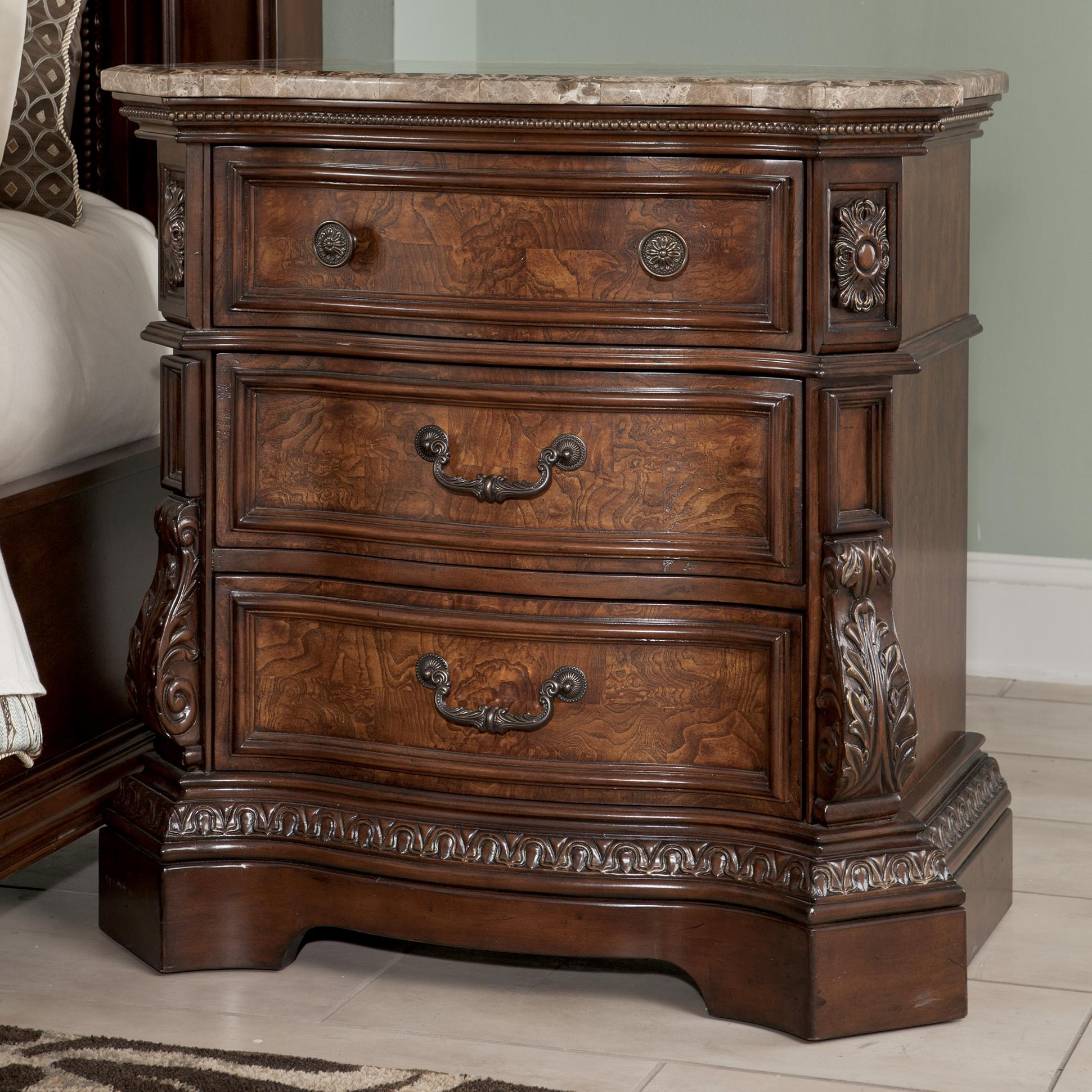 Millennium Ledelle Three Drawer Night Stand - Item Number: B705-93