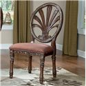 Millennium Ledelle Traditional Dining Upholstered Side Chair with Pierced Back - D705-03