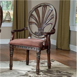 Millennium Ledelle Dining UPH Arm Chair