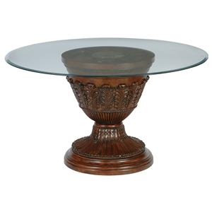Millennium Ledelle Glass Top Round Dining Room Table
