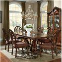Millennium Ledelle 7-Piece Rectangular Table Set with Pierced Back Side Chairs - D705-55B+T+6x03