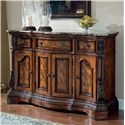 Millennium Ledelle Traditional Dining Room Server with Marble Top - D705-60