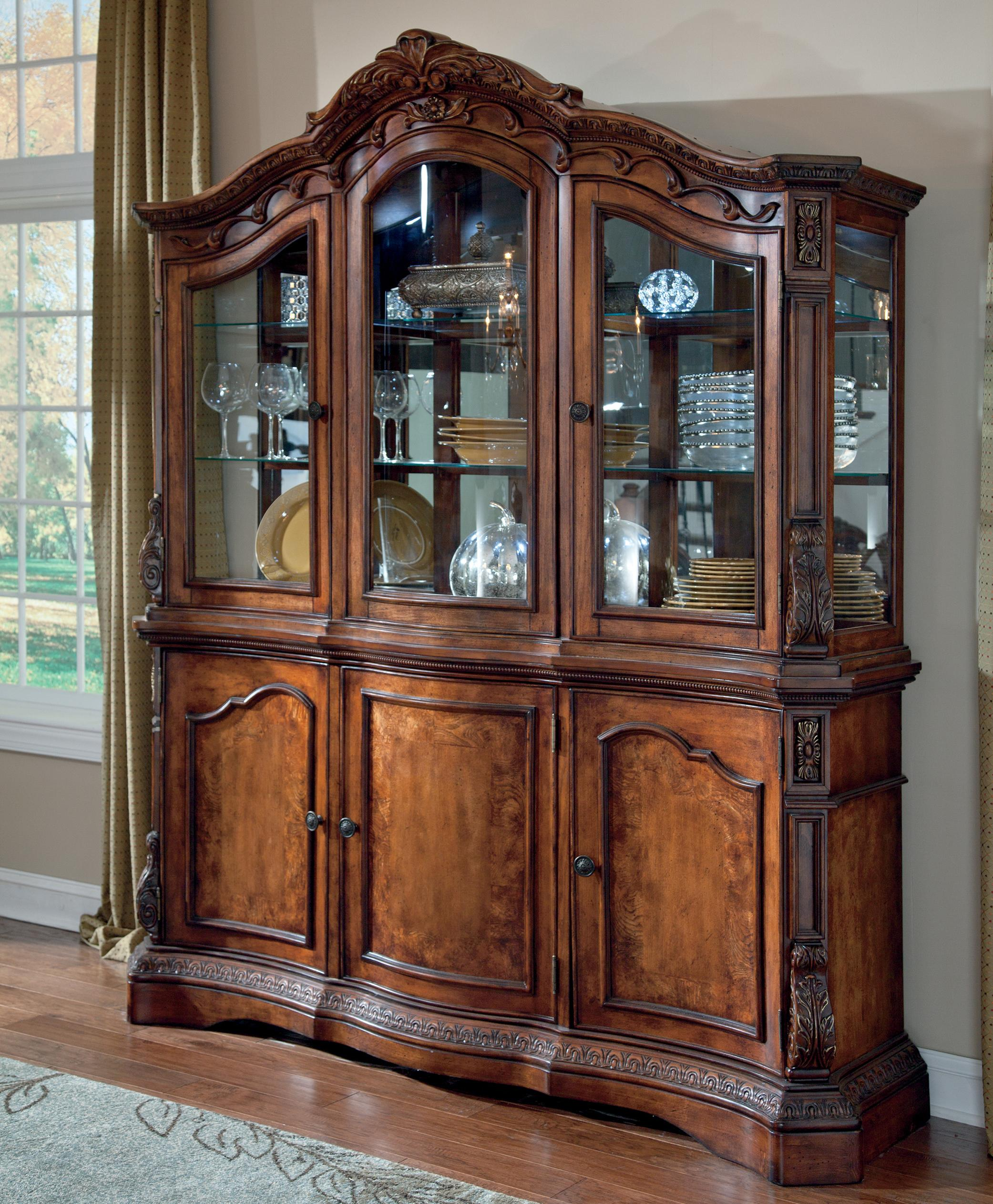Millennium Ledelle Traditional Dining Room Buffet China Cabinet Hutch