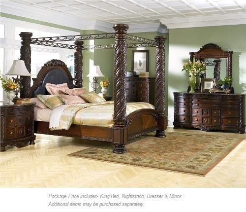 Millennium North Shore 4PC King Bedroom Group - Item Number: B533 Kg Canopy Bed Group