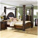 Millennium North Shore California King Canopy Bed - Item Number: B553-150+151+162+172+195