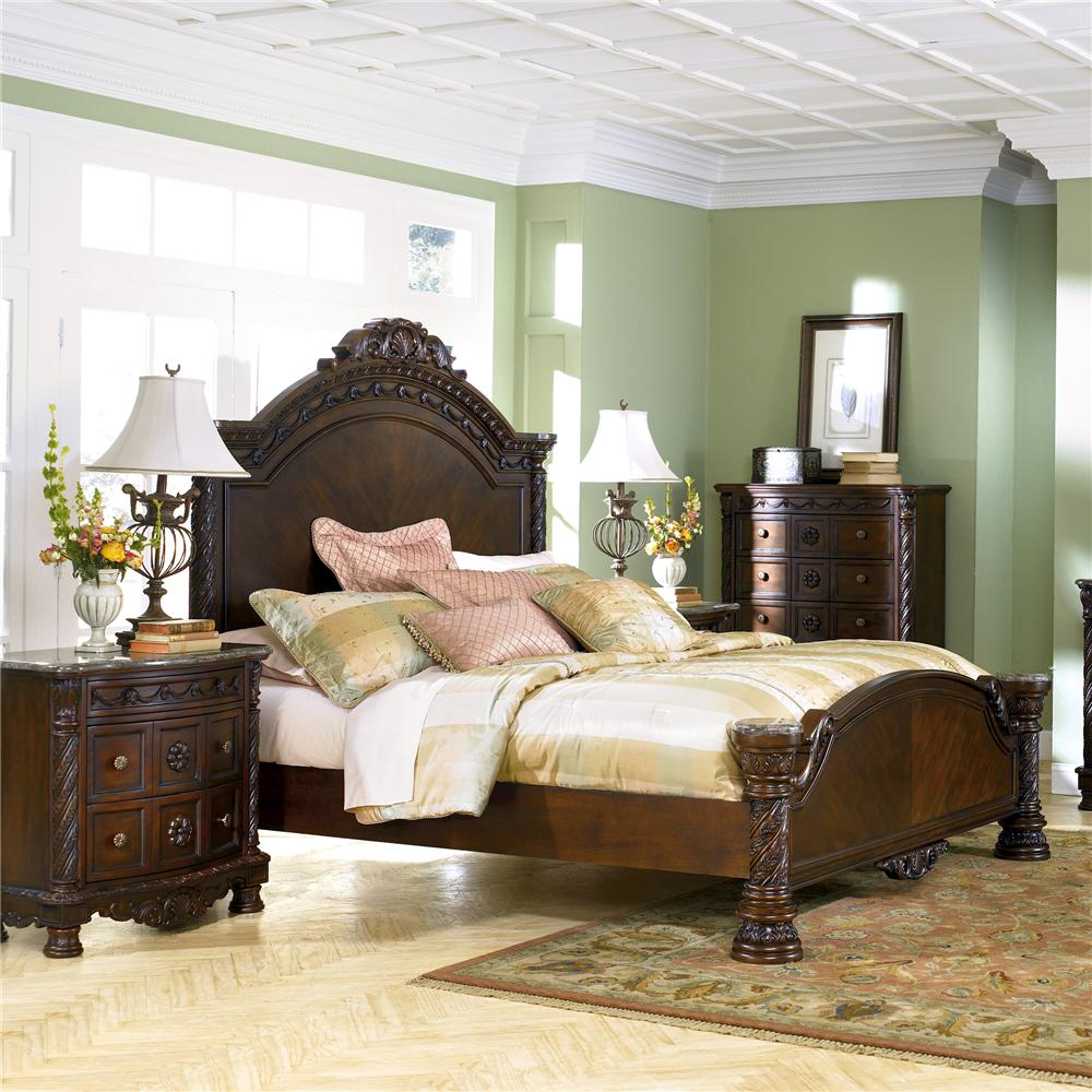 Millennium North Shore King Panel Bed - Item Number: B553-156+158+197