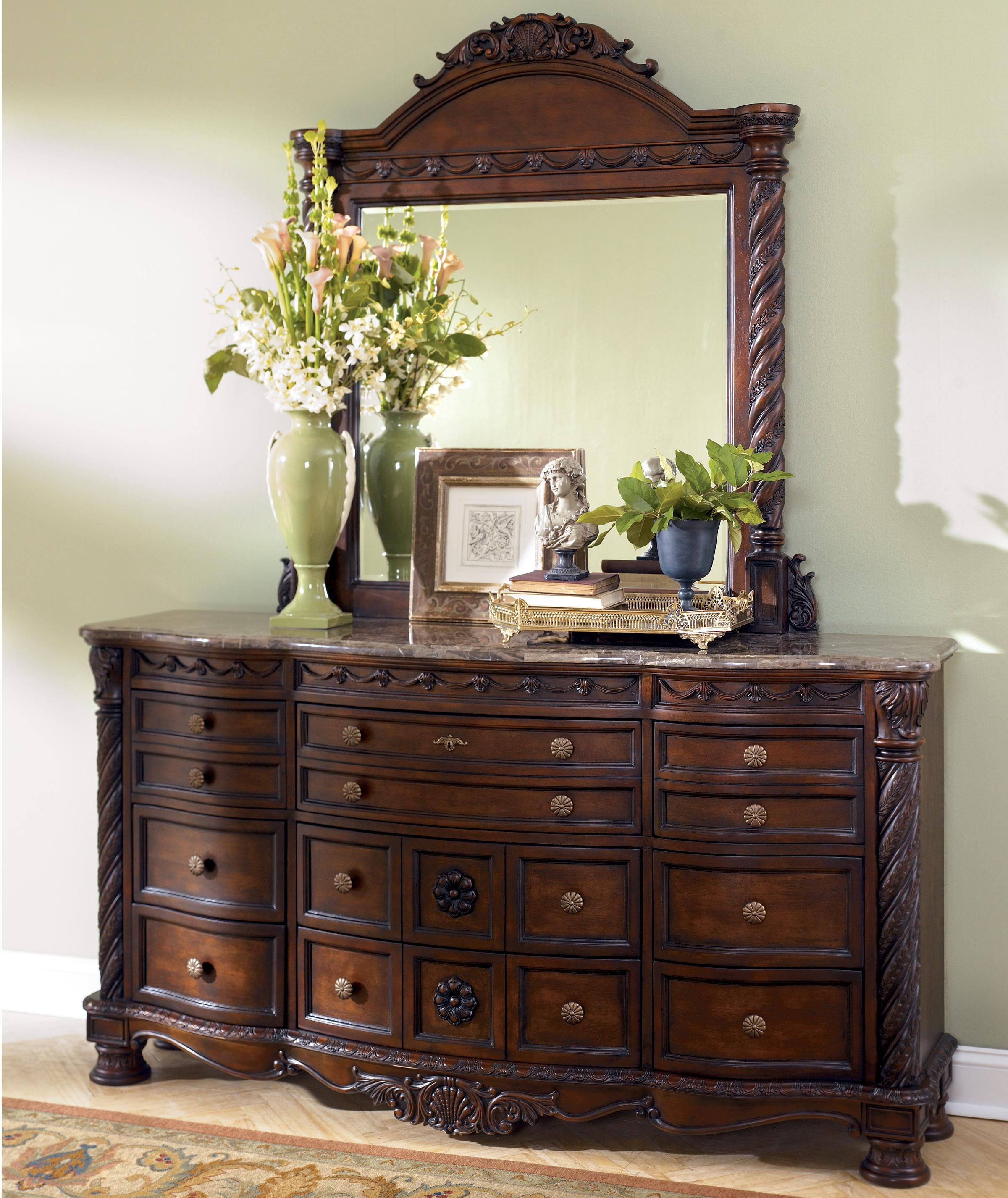 Millennium North Shore Dresser & Mirror - Item Number: B553-31+36