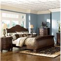 Millennium North Shore Queen Sleigh Bed - Item Number: B553-77+74+75
