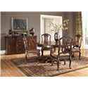 Millennium North Shore Carved Back Side Chair - D553-03 - Shown with Single Pedestal Table