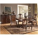 Millennium North Shore Round Pedestal Dining Table - D553-50B+T - Shown with Side Chairs