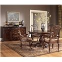 Millennium North Shore Round Pedestal Dining Table - D553-50B+T - Shown with Arm Chairs