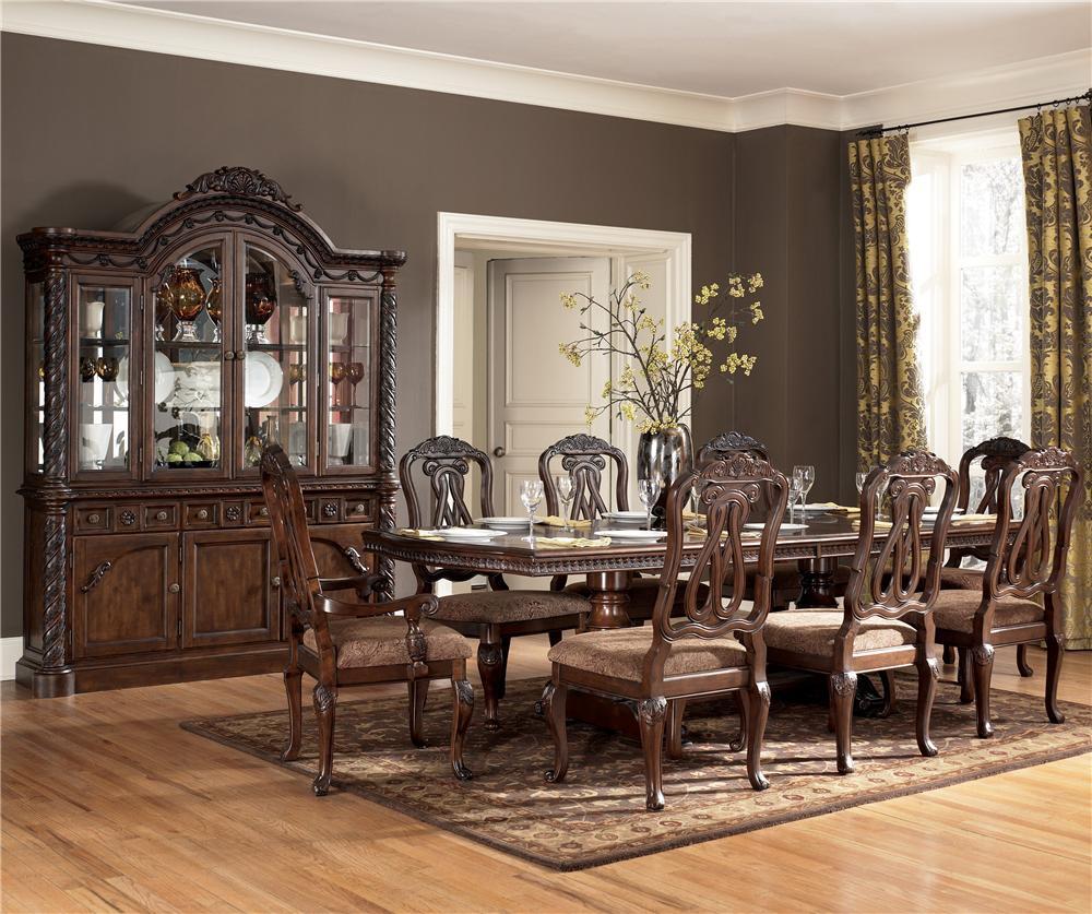 Millennium North Shore 9 Piece Table & Chair Set - Item Number: D553-55B+T+2X03A+6X03