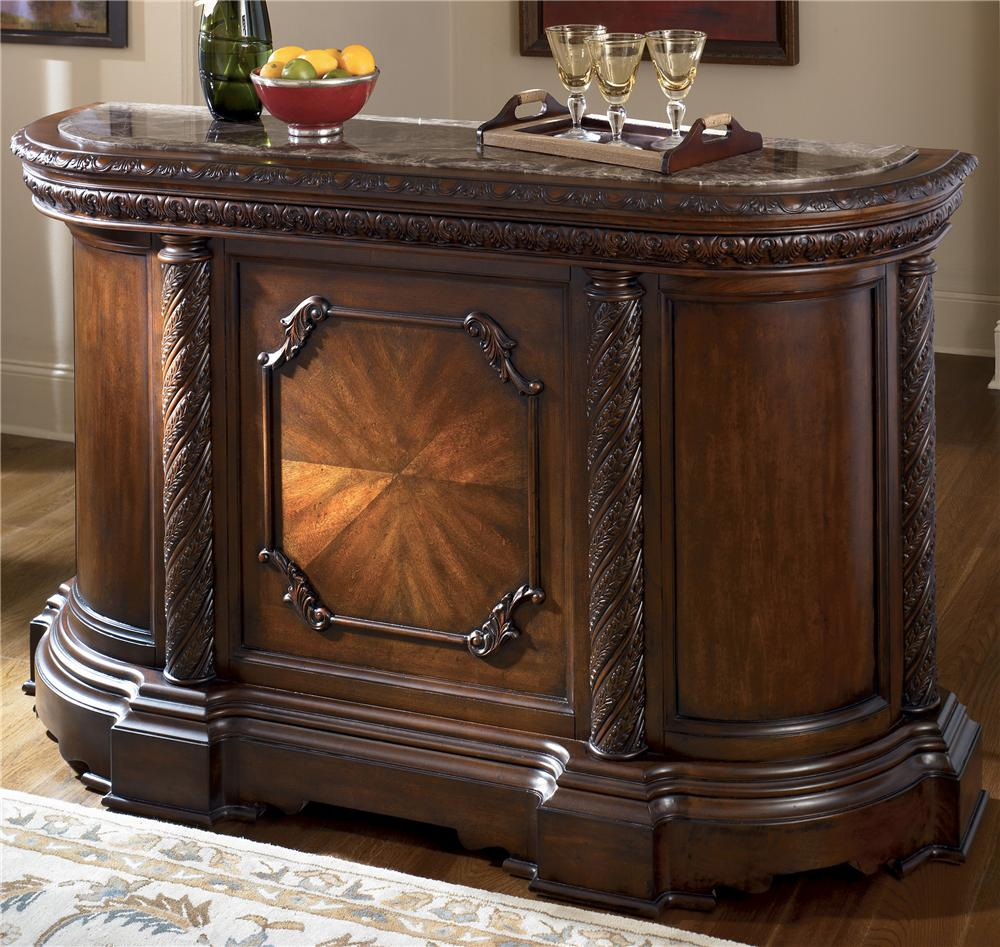 Millennium North Shore Bar with Marble Top - Item Number: D553-65