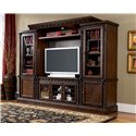 Millennium North Shore Traditional 51-inch Medium TV Stand - W553-31 - TV stand shown with piers and bridge to create a wall unit