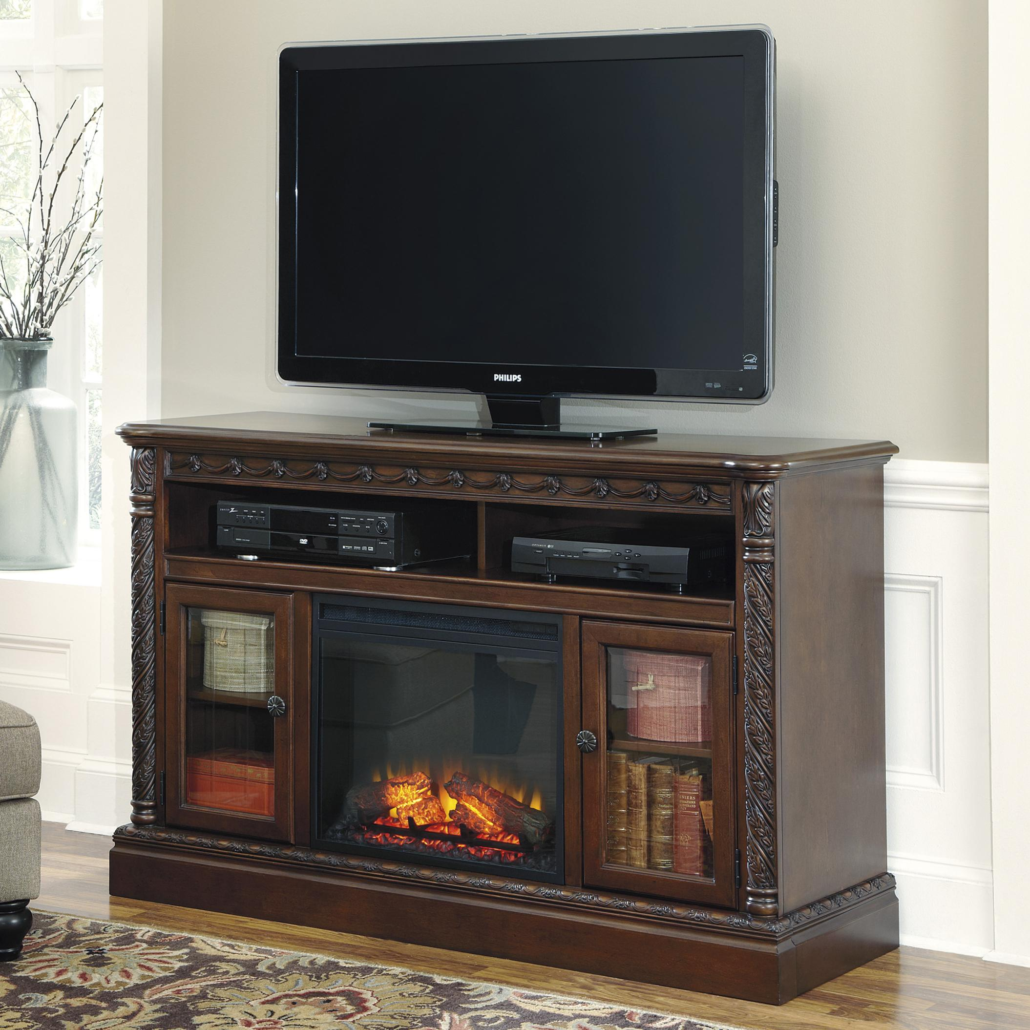 Millennium North Shore Large TV Stand - Item Number: W553-68+W100-01