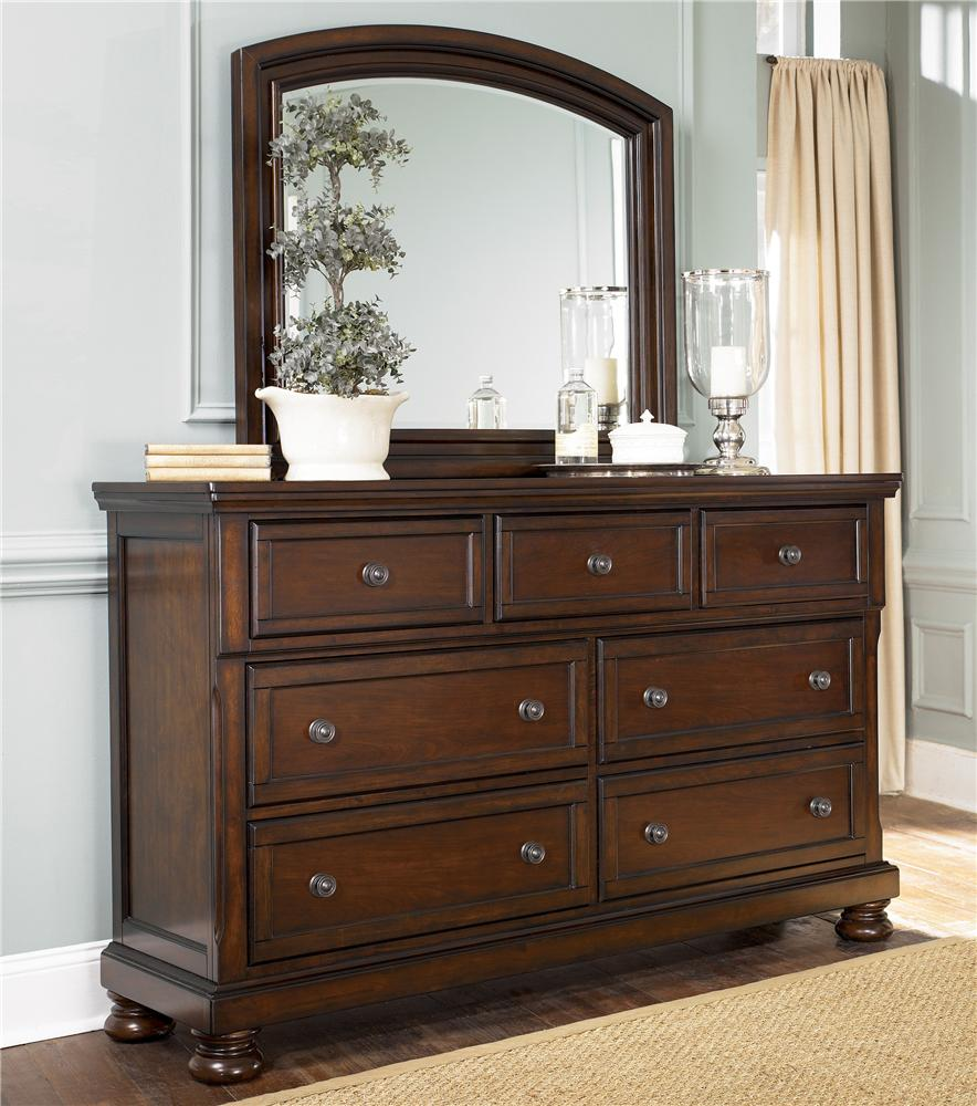 Ashley Furniture Porter Dresser & Mirror Combo - Item Number: B697-31+36