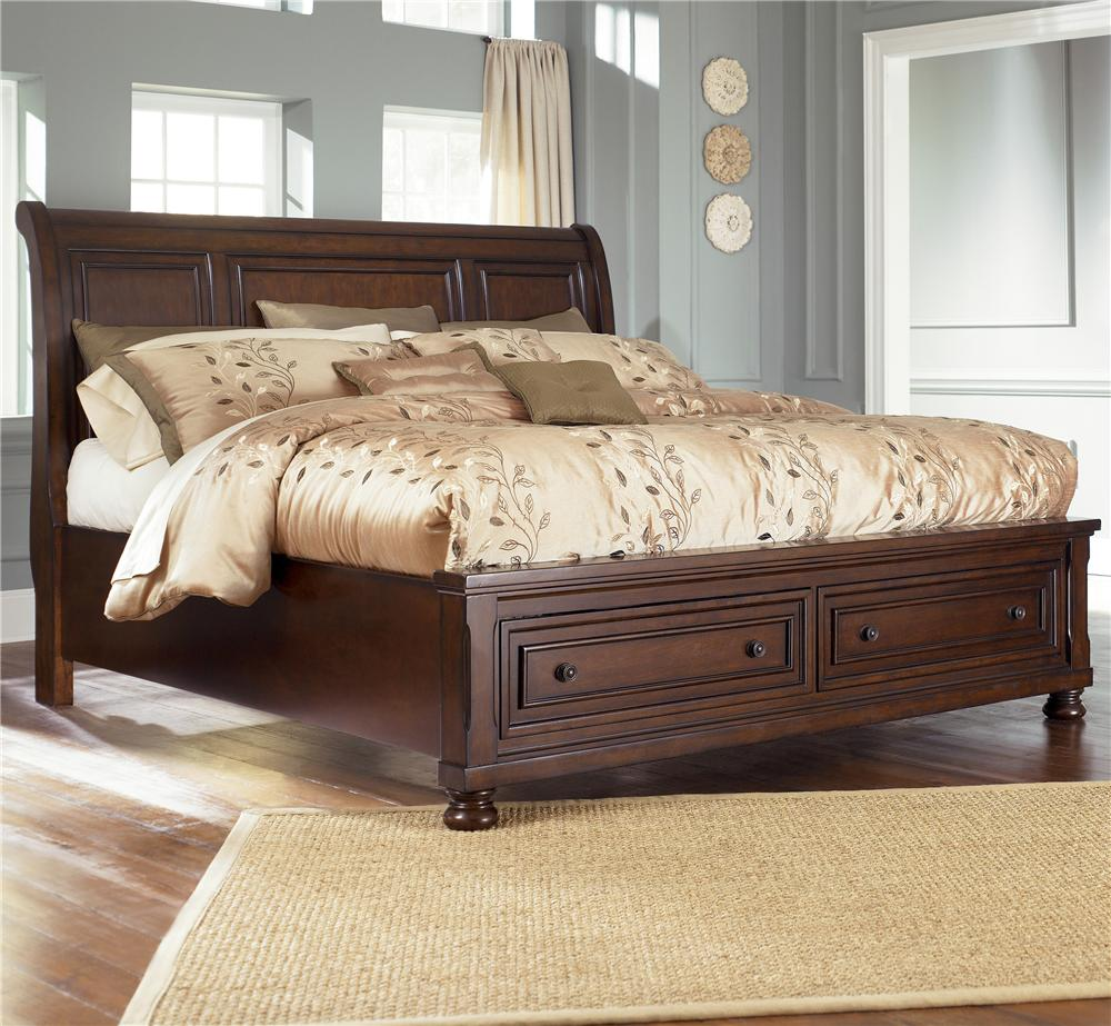 Porter California King Sleigh Bed by Ashley Furniture at Beck's Furniture