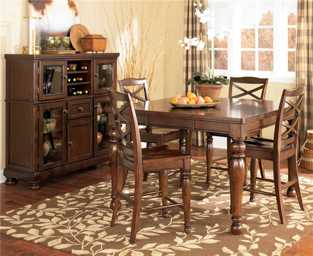 Ashley Furniture Porter 5 Piece Counter Height Table