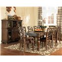 Ashley Furniture Porter House 9 Piece Table & Chair Set - Item Number: D697-35+2X01A+6X01