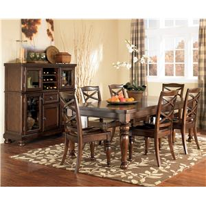 Ashley Furniture Porter House 7 Piece Table & Chair Set