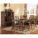 Ashley Furniture Porter 7 Piece Table & Chair Set - Item Number: D697-35+6X01