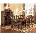 Ashley Furniture Porter 9 Piece Table & Chair Set - Item Number: D697-35+8X01
