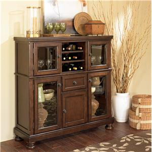 Ashley Furniture Porter House Server with Storage Cabinet