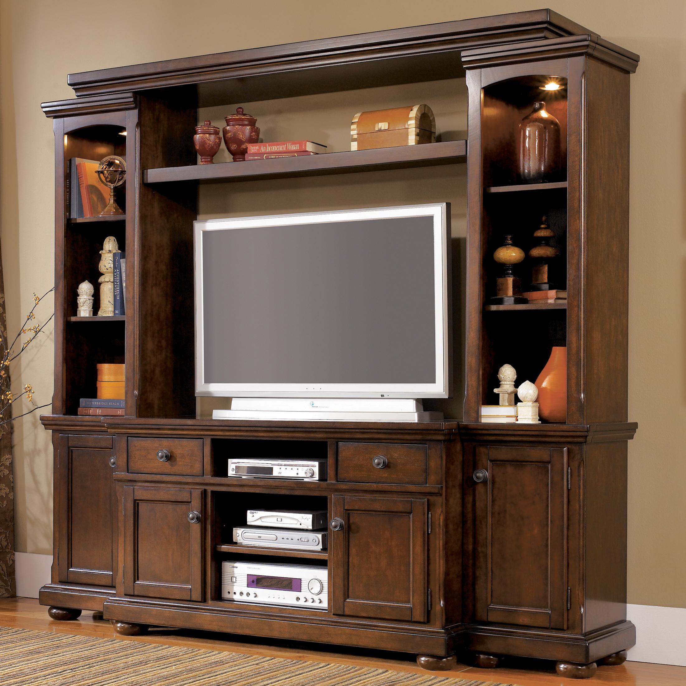 Ashley Furniture Porter House Entertainment Wall Unit with TV