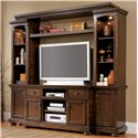 Ashley Furniture Porter House Entertainment Wall Unit - Item Number: W693-23+25+20+24