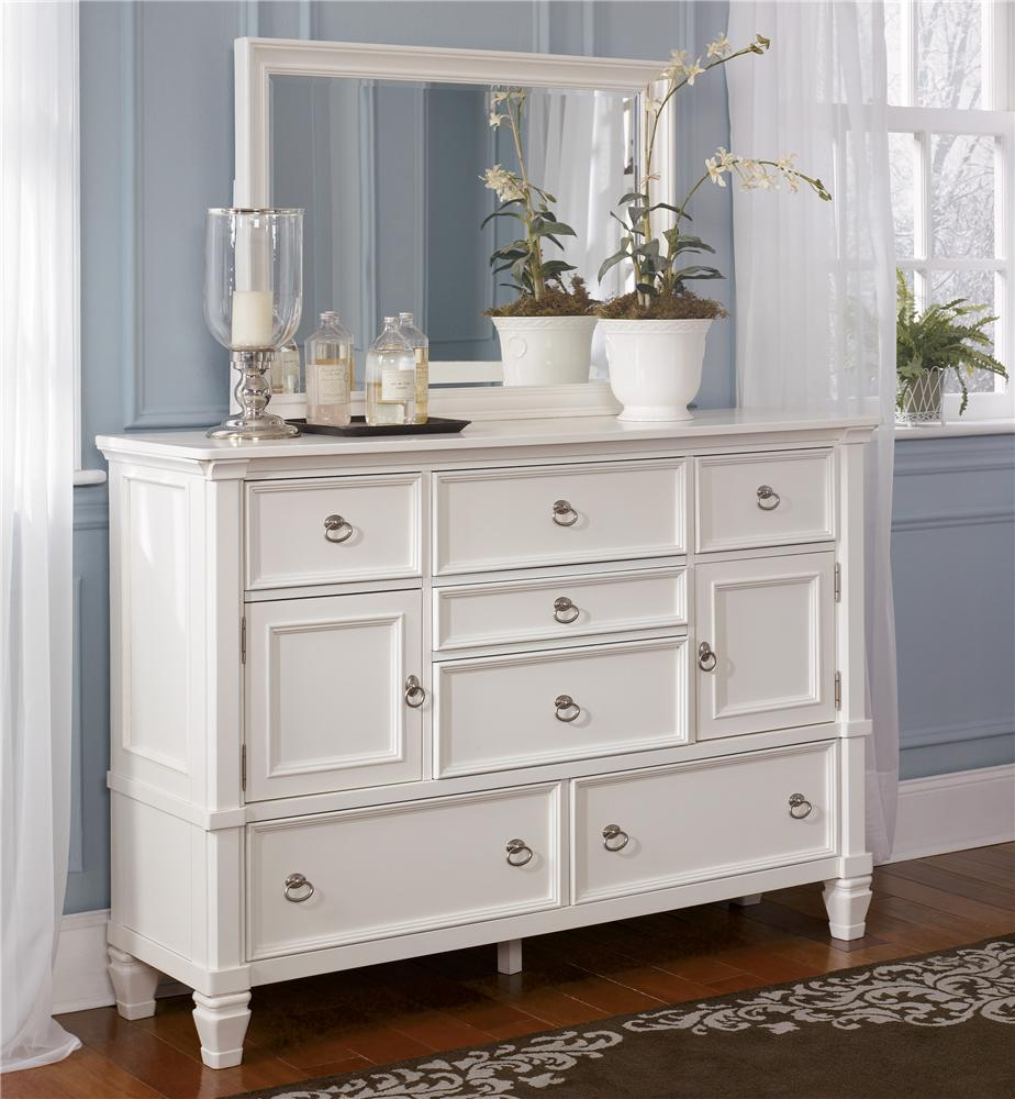Merveilleux Millennium Prentice Dresser And Mirror Combination   Item Number: B672 31+36