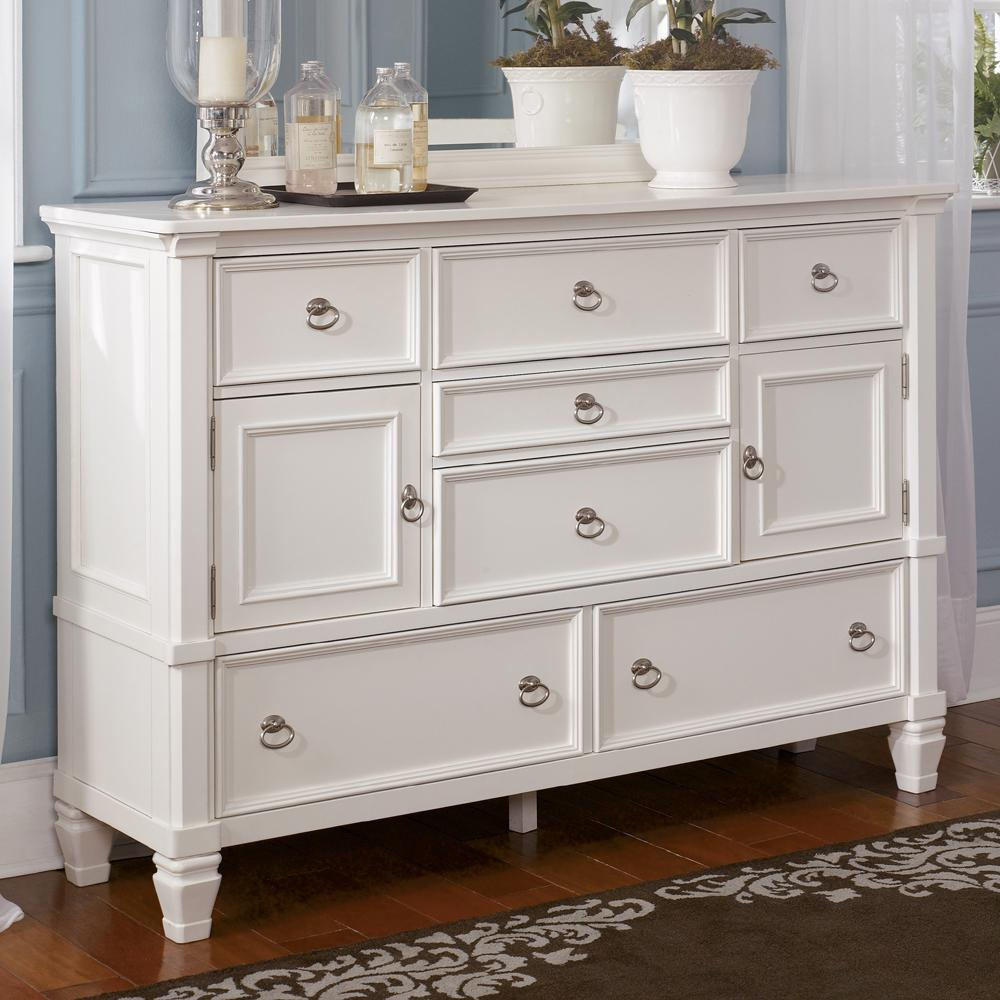 Millennium Prentice 7 Drawer Dresser With Glass Door