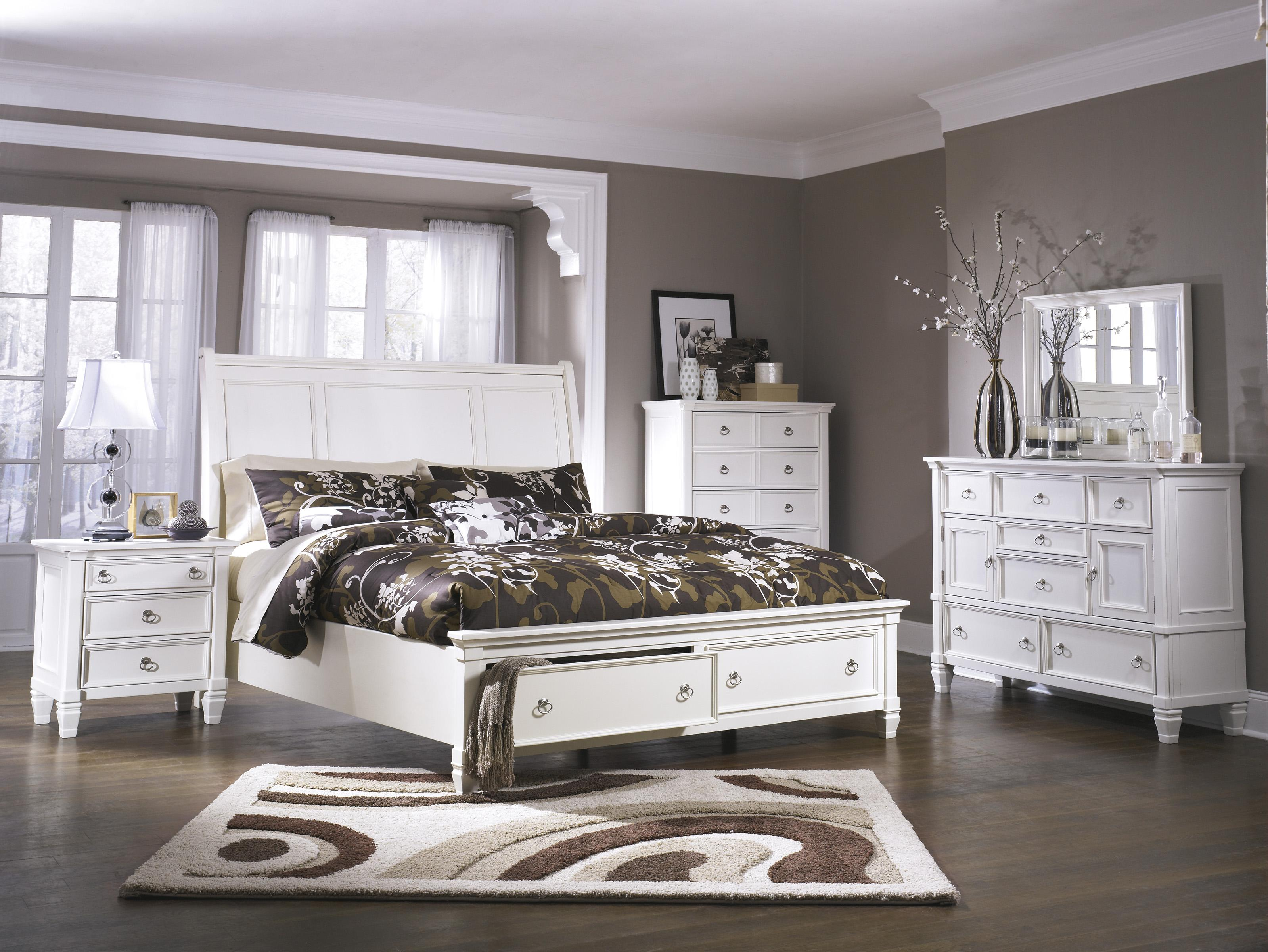 Millennium Prentice Queen Sleigh Bed With Storage