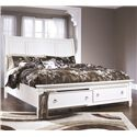 Millennium Prentice King Sleigh Bed with Storage Footboard - Item Number: B672-78+76+99