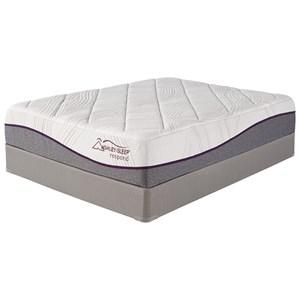 "Ashley Sleep M947 14 Inch Respond MF Queen 14"" Plush Memory Foam Mattress Set"