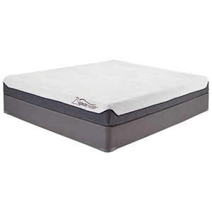 "Ashley Sleep Memory Foam 8 Series Full 8"" Memory Foam Mattress Set"