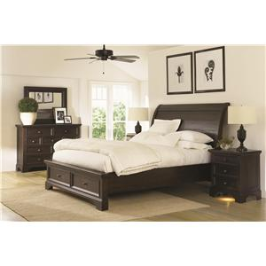 Aspenhome Bayfield Queen Sleigh Storage Bedroom Set