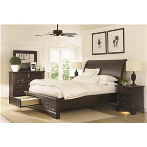 Aspenhome Bayfield King Sleigh Storage Bedroom Set