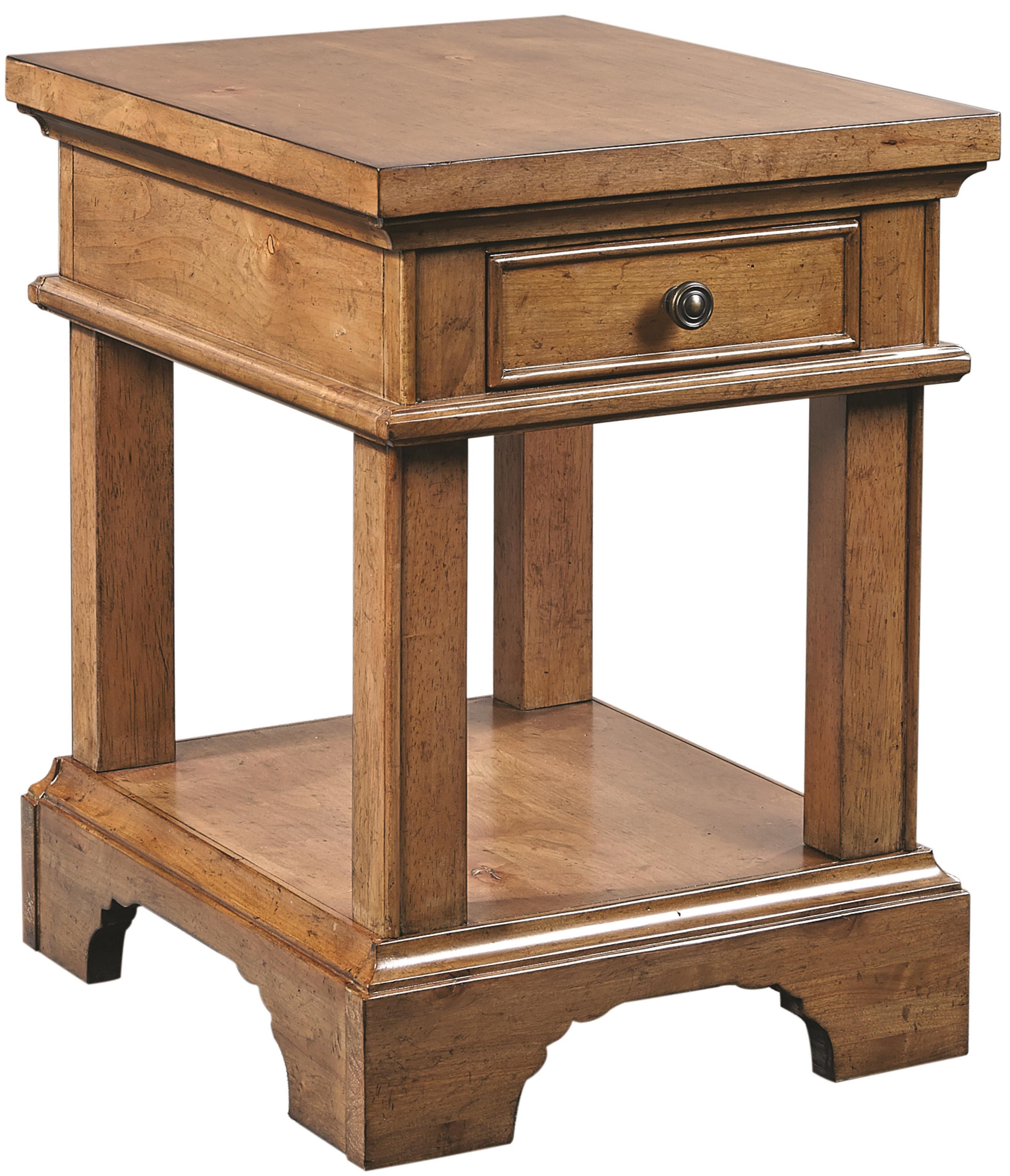 Aspenhome Alder Creek Chairside Table with Power - Item Number: I09-9130