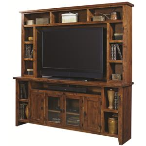 "Highland Court Alder Grove 84"" Console and Hutch"
