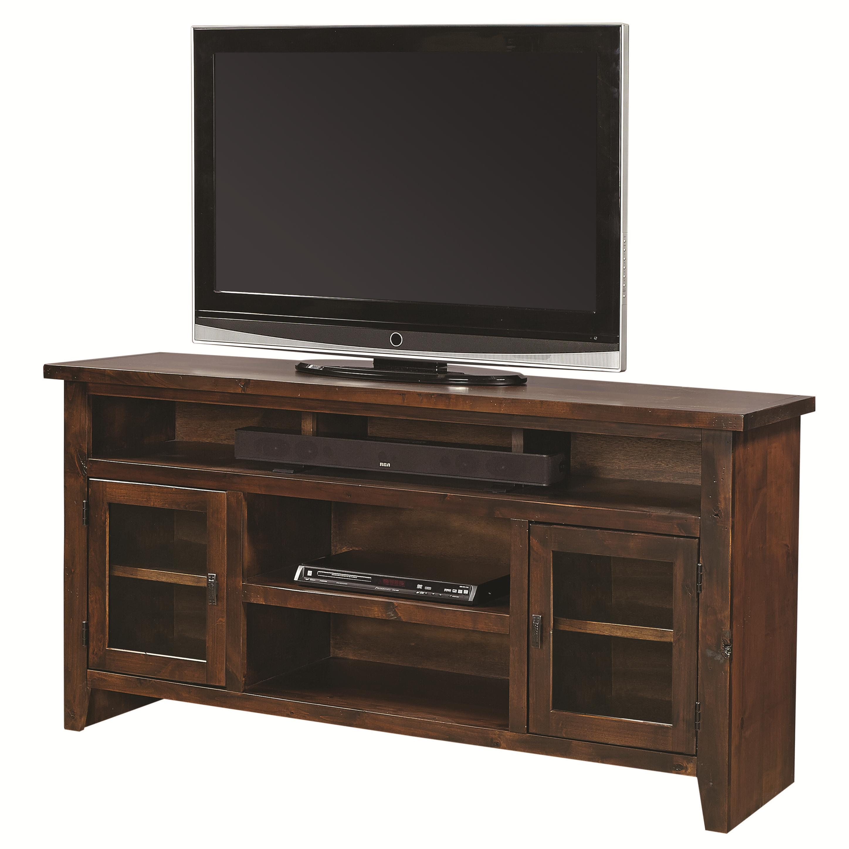 "Alder Grove 65"" Console with Doors by Aspenhome at Walker's Furniture"