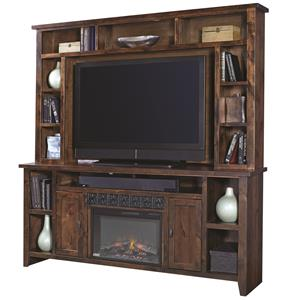 "Aspenhome Alder Grove 84"" Fireplace Console with Hutch"