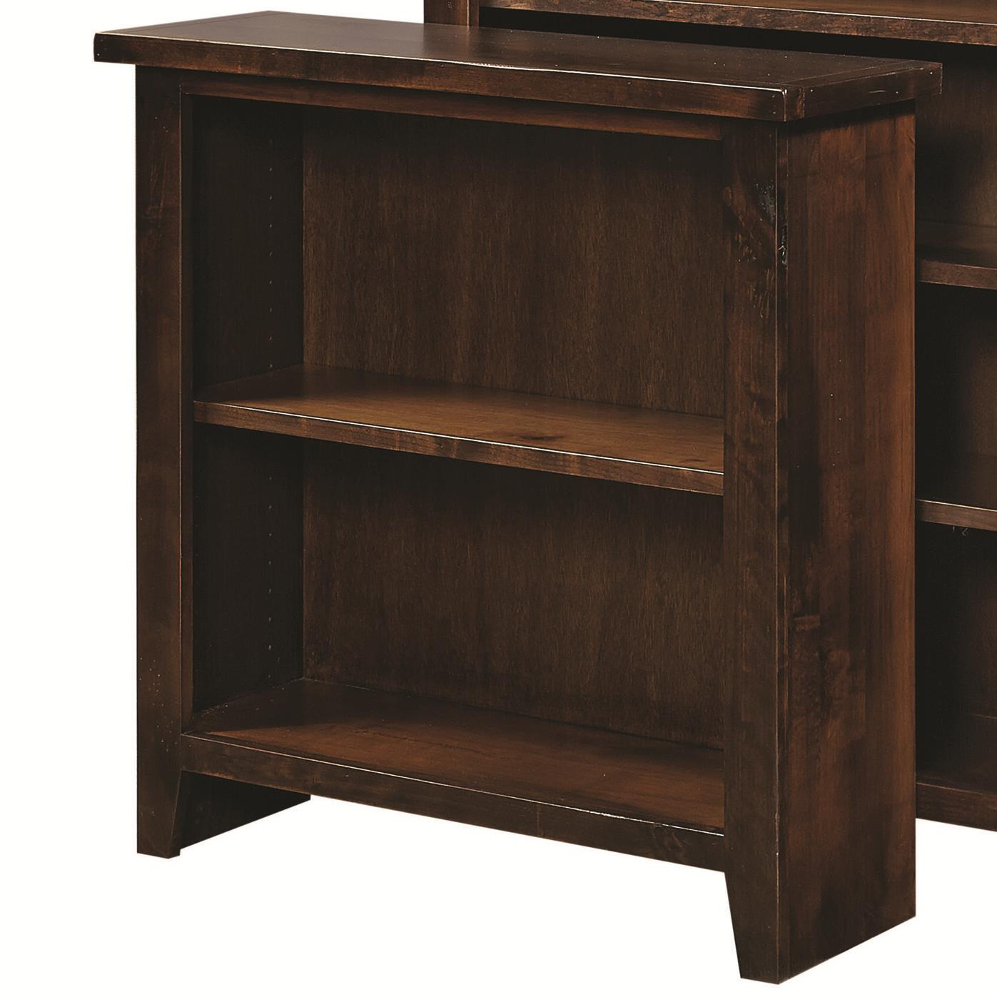 "Aspenhome Alder Grove 36"" Height Bookcase with 2 Shelves - Item Number: DG3436-TOB"