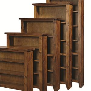 "Morris Home Alder Grove Bookcase 74"" H with 4 Shelves"