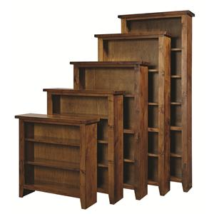 "Morris Home Furnishings Alder Grove Bookcase 84"" H with 5 Shelves"