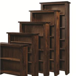 "Morris Home Alder Grove Bookcase 84"" H with 5 Shelves"